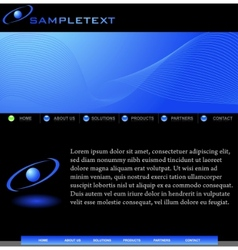 abstract website template for business vector image