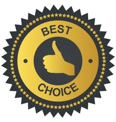 Best choice golden label vector image