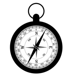 compass old retro vintage icon stock vector image vector image