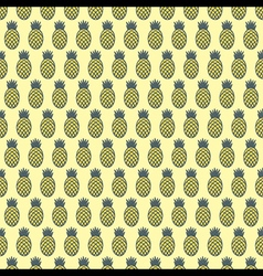 pineapple fruit pattern background design vector image vector image
