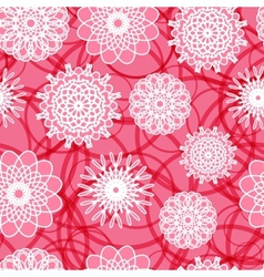 Pink Flowers Seamless Pattern vector image vector image