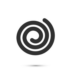spiral icon flat black sign on a white background vector image vector image