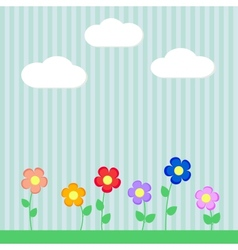 Background with flowers for scrapbook vector image