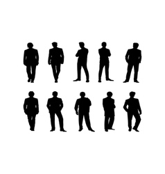 black people silhouettes vector image vector image