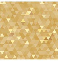 Golden triangles background vector image