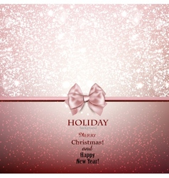 Greeting card with bow and copy space vector image