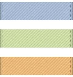 Horizontal ribbons vector image