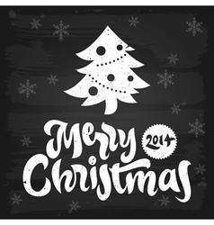 Merry Christmas greetings chalkboard vector image