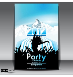 Mountain party flyer vector image vector image