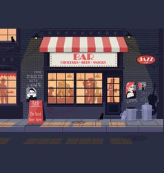 old city street night landscape vector image