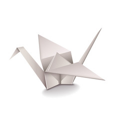 Origami Crane isolated on white vector image vector image