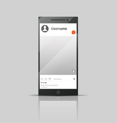 social network phone vector image vector image