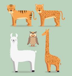 wild animal cartoon vector image