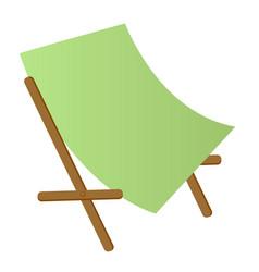 beach chaise longue cartoon vector image vector image