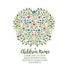 christening invite - invitation template with vector image