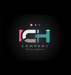ich i c h three letter logo icon design vector image vector image