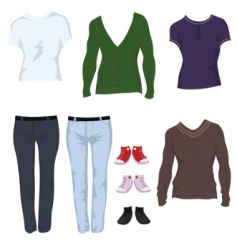 male clothes vector image