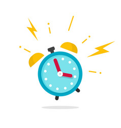 alarm ringing icon flat vector image vector image