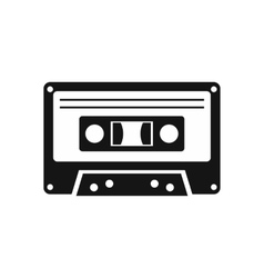 Cassette tape icon simple style vector image vector image