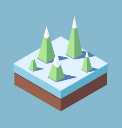 concept of a christmas tree in winter vector image vector image