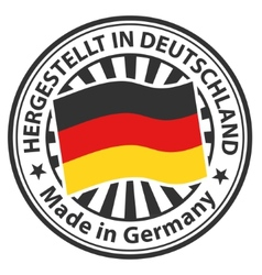 Sign Made in Germany Hergestellt in Deutschland vector image