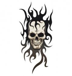 skull tribal tattoo vector image