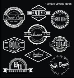 Unique Vintage Labels vector image vector image