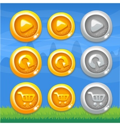 Webset of buttons vector image vector image