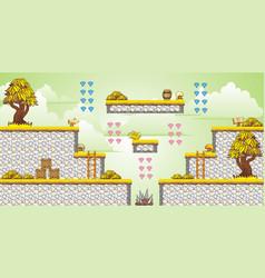 2d tileset platform game 33 vector