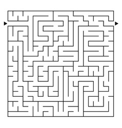 Abstract complex square isolated labyrinth black vector