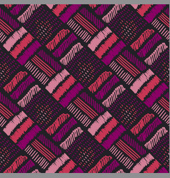 abstract decorative embroidery seamless pattern vector image