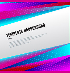 abstract template header and footers colorful vector image
