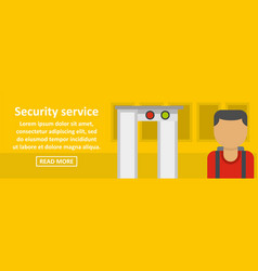 Airport security service banner horizontal concept vector