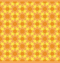 arabesque geometric seamless floral pattern vector image
