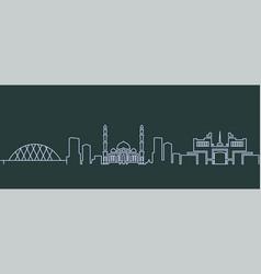 astana single line skyline vector image