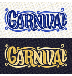 Banners for carnival vector
