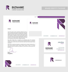 Brochure design with company card and stationary vector