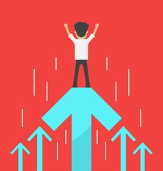 Business increase success vector