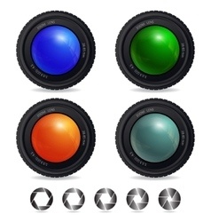 Cameralens vector image