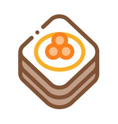 caviar on pancake icon outline vector image