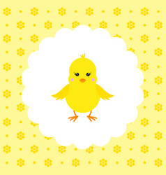 Chick flat vector