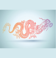 Chinese colorful dragon vector