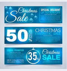 christmas sales banners winter and new year vector image