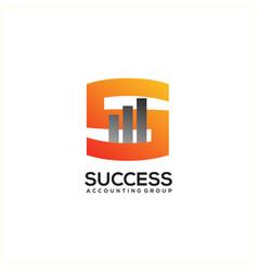 creative accounting concept logo design template vector image