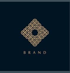 creative monogram symbol logo design vector image