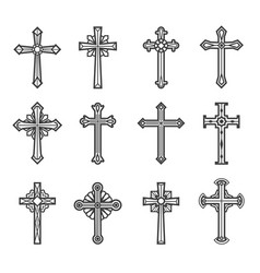Crucifix vintage images vector
