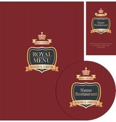 design elements for cafe or restaurant vector image