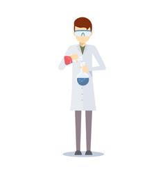 design of chemistry scientist vector image