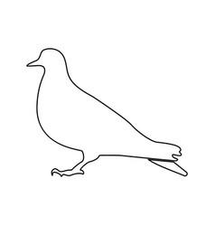 Dove black color icon vector