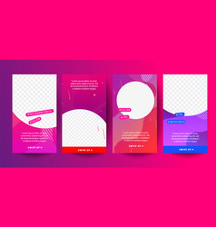 Editable story cover design for instagram stories vector